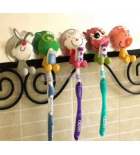 1PC Cute Cartoon Animal Toothbrush Holder Mini Bathroom Shelves for Kids High Quality