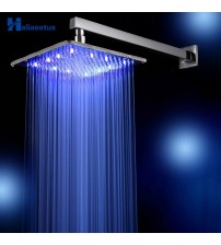 10 Inch 25 CM * 25CM Rain LED Shower Head with Shower Arm .Temperature Control 3 Colors Change Led Showerhead.Led Chuveiro Ducha