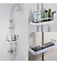 1pc Bathroom Shelf Shower Storage Rack Shampoo Holder Bath Towel Tray Single Tier Shower Head Holder Bathroom Accessories