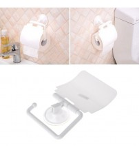 1PC White Wall Mounted Plastic Bathroom Toilet Paper Holder With Cover Porta Papel Higienico Bathroom Accessories