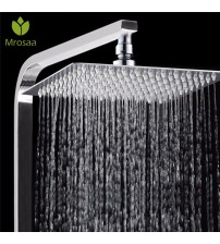 1 Pcs Bath Shower Rainfall Sprayer 304 Stainless Steel Square & Round Shower Head High Pressure Bathroom Top Spray Head for Bath