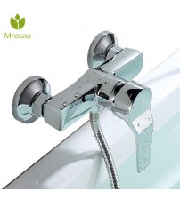 1 Pcs Mrosaa Ceramic Bathroom Shower Faucets Zinc Alloy Wall Mounted Hot & Cold Water Mixer Tap Bath Bathtub Faucet