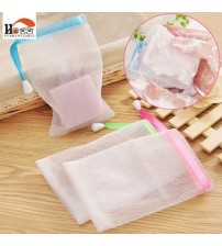 1 pcs New Shower Mesh bag Wash Skin Spa Bath Soap foam Mesh bag Foam Bath Body Massage Cleaning Loofah Scruber