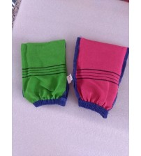 5pcs, 10pcs /lot  Double sided hammam scrub mitt magic peeling glove exfoliating tan removal mitt