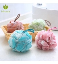 1 Pcs Home Bathroom Bath Sponge Mesh Exfoliating Shower Pouf  Adult Bathing Towels Bath Ball Body Cleaner Shower Sponge