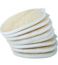 TREESMILE 1PCs Loofah Sponge, Exfoliating Loofah Sponge Pads Natural Loofah Back Scrubber for Men and Women 10DI5