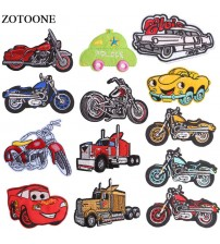 ZOTOONE Iron On Rock Motorcycle Patches For Clothes Embroidery Applique Cartoon Car Bike Patch Jeans Iron Sticker For Clothing