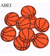 10pcs/lot Embroidered Basketball Patch Iron On Sew On Sports Ball appliques Diy Clothing Stickers iron Jeans garment Badge