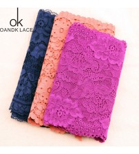 1 YARD stretch cotton lace sewing applique lace with wedding decoration process