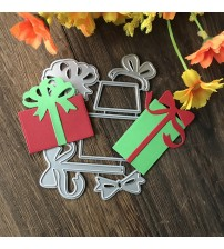 106*81mm Gift box Bows Scrapbooking Dies New Presents Metal Cutting Dies For Photo Album Paper Card Embossing Stencil
