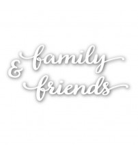 """Word """"Family & Friends"""" Metal Cutting Dies New  Stencils for DIY Scrapbooking DIY Paper Cards Making Crafts Decorative"""