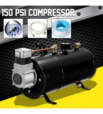 150 PI 12V Compreor Electric Air Compreor  with 3 liter Tank Capacity for Air Horn Train Truck Auto Bicycle Tire H004