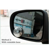 Univeral Adjutable Viual Wide-angle Car Rearview Mirror mall Round ide Mirror olid Convex urface with Rotating Bae