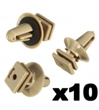 10 x Interior Platic Clip For BMW Trim ill Door Entrance Bottom 51477117532