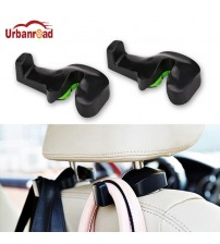 Urbanroad 2pc Car Back eat Headret Holder Auto Hanger Hook Clip for Pure Bag Cloth Grocery Automobile Interior Acceorie