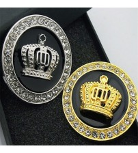 1 PC 3D Metal Royal Crown Car tricker Gold And ilver Luxury VIP Emblem Car Badge Decal ticker Car tyling Tool Acceorie