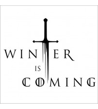 """""""Winter I Coming"""" Decal Game Of Throne Vinyl ticker For Car Decor"""