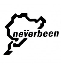 10*14CM NEVERBEEN NURBURGRING Funny For Car ticker Decal Peronality Reflective Car ticker Decal Black ilver CT-439