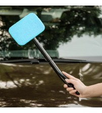 New 1pc Microfiber Auto Window Cleaner Long Handle Car Wahable Car Bruh Window Windhield Wiper Cleaner Car Cleaning Tool