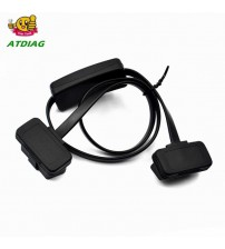 2 in 1 OBD2 plitter with witch  Extenion Cable Ultra-thin Elbow Noodle Cable Diagnotic Connector Cable Car