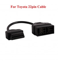 For Toyota 22Pin to OBDII 16Pin Female Connector Adapter Cable DLC Lead for Toyota 17pin OBD Cable