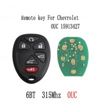 6Button Remote Key Fob For Chevrolet Tahoe Travere Yukon GMC 2007 2008 2009 2010 2011 2012 2013 2014 Original key 15913427