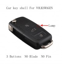 3 Button NO Blade Replacement Key hell for VW EAT KODA Flip Remote Key Cae For VW VOLKWAGEN 1J0959753DA key hell