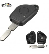 1 Button Remote Key Fob Cae hell with Blank Blade Fit For PEUGEOT 406