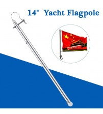 14 Inch tainle teel Boat Flag Pole Marine Grade Clamp Kayak Boat Yacht Replacement Acceorie Dinghy Raie Flag Rod Part