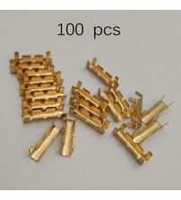 100Pc Dock Connector Line Preing Button Quick Connect Button for Wiring Terminal Electrical Connector Kit