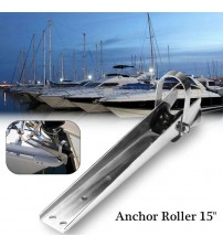 "15"" 316 tainle teel Bow Anchor Rubber Roller For Fixed Marine Boat Docking Corroion Reitance Durability 62x41mm Hardware"