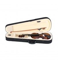 1/4 Size Natural Color Basswood Acoustic Violin Fiddle with Case Bow Rosin for Violin Beginners Children Age 5-7 Gift