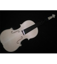 1 PC Flamed Maple Whole piece back Spruce top White Violin 4/4 unfinished violin nice wood grains EU5304#