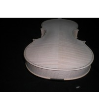 1 PC Quality White Violin 4/4 Hand Made with Ebony Fingerboard Nice Wood Grains G03303#