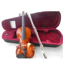 wood violin full set with case bow
