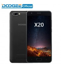 DOOGEE X20 Mobile phone MTK6580A Quad Core 1GB RAM 16GB ROM Dual Camera 5.0MP+5.0MP Android 7.0 2580mAh 5.0''HD Smartphone WCDMA