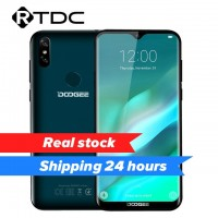 """DOOGEE Y8 3GB RAM 16GB ROM Android 9.0 Smartphone 6.1""""FHD 19:9 Display 3400mAh MTK6739 Quad Core 4G LTE Mobile Waterdrop Screen"""