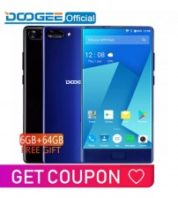 DOOGEE MIX 6GB+64GB bezel-less Smartphone Dual Camera 5.5'' AMOLED MTK Helio P25 Octa Core mobile phones Android 7 In Stock