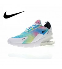 NIKE Air Max 270 Women's Breathable Running Shoes    Athletic Massage Designer Footwear Low Top AH6789-700