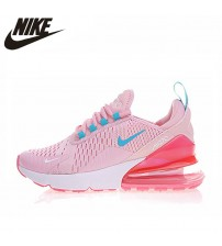 Nike AIR MAX 270 Women's Running Shoes, Yellow Pink, Shock Absorption Non-slip Wear-resisting Lightweight   Shoes