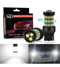 &D 2pc T20 7440 W21W WY21W LED 7443 RCK W21/5W LED Bulb 12V Car Light Turn ignal Brake Revere Tail Lamp Auto 1200LM