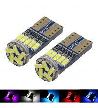 100X Car LED T10 W5W 194 168 CANBU OBC 4014 LED 15 MD Non Polar Auto Wedge Clearance Lamp Reading Light Door Tail Bulb DC 12V