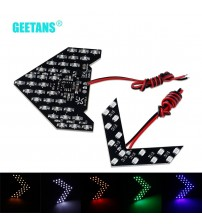 2PC/et 33/14 MD LED Arrow Panel Car ide Mirror Turn ignal Indicator equential 5 color Flah Light Lamp G