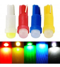 10 PC T5 1 MD LED Bulb Ceramic Dahboard Gauge Intrument Auto Light Car Lamp DC12V FREE HIPPING