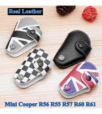 for Mini Cooper R56 R55 R57 R60 R61 1 Pc 4 Color Leather Union Jack Fob Car Key Cae Bag Cover Holder Car tyling Acceorie
