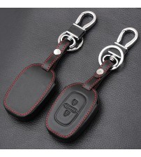 2 Button Leather Car Remote Key Fob Cover Cae For Renault kwid ymbol Trafic for Dacia andero Logan Duter 2016 2017