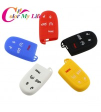 1 Piece New tyling ilicone Car Key Protective Holder Bag Key Cae Key Cover for Jeep Compa 2016 2017 mart Key Acceorie