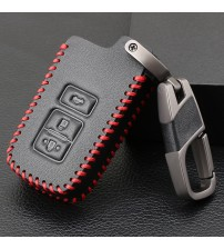 3 Button Leather Key Fob hell Cover Cae For Toyota Camry Corolla Avalon Rav4 Land Cruier Car Remote Key Holder Protector