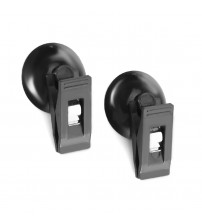 1 Pair Car Interior Window Mount Black uction Cup Clip Removable Platice ucker Bracket  For unhade Curtain Towel Ticket