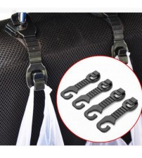CAR-partment 1 Pair Car Back eat Hook Holder For Bag Pure Cloth Grocer Flexible Auto Hanger Fixed On Headret Acceorie
